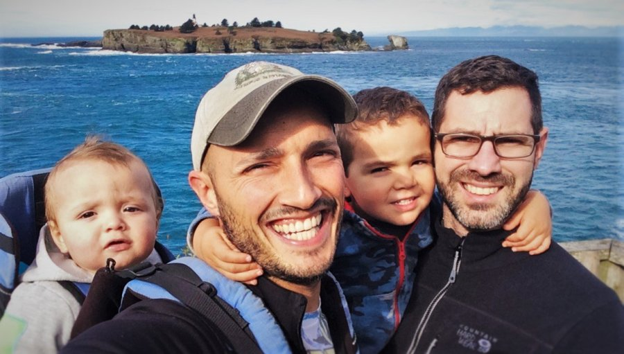 Taylor Family at Lighthouse Cape Flattery Olympic Peninsula 1