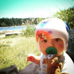 TinyMan in Helmet at Old Man Beach