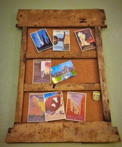 Travel Board with Postcards