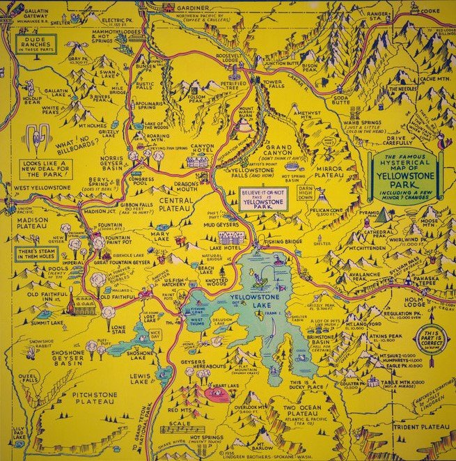 Vintage Yellowstone Map 1