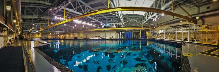 Whale Shark Tank from Above Behind the Scenes Georgia Aquarium pano 3