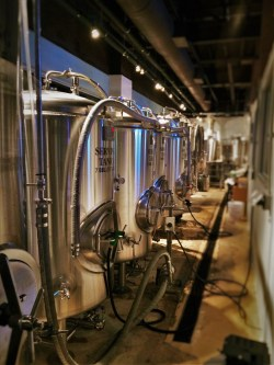 Brewery area of Zeta Brewing Jacksonville Beach 1