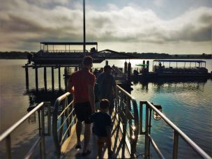 Chris Taylor and LittleMan ferry dock at Fort Matanzas National Monument St Augustine FL 2