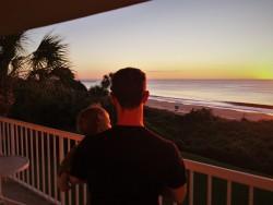 Chris Taylor and TinyMan at Sunrise at King and Prince Resort St Simons GA 1
