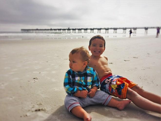 Dudes Sitting in Sand on Jax Beach 1