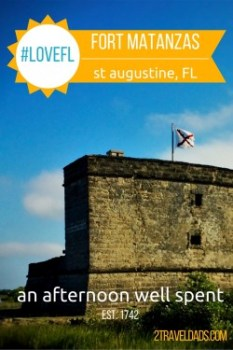 A day at Fort Matanzas, south of St Augustine, Florida is well worth your time. Built 1742, this National Monument has pelicans, history and stunning views. 2traveldads.com