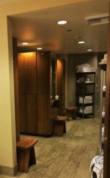 Locker Room at Hyatt Olive 8 Seattle 1