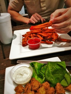 Mahi Bits and Sweet Potato Fries at Zeta Brewing Jacksonville Beach 1