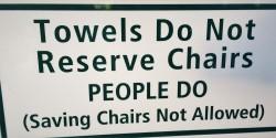 Pool Towel Sign at King and Prince Resort St Simons GA
