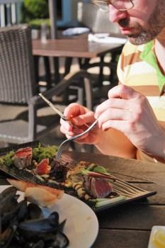 Seared Tuna at Echo Restaurant at King and Prince Resort St Simons GA 1