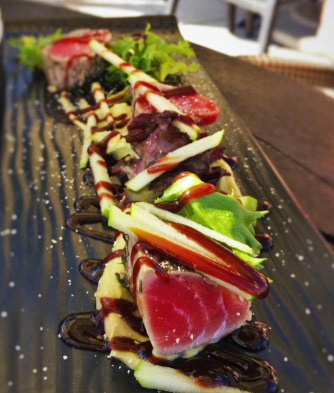 Seared Tuna at Echo Restaurant at King and Prince Resort St Simons GA 2