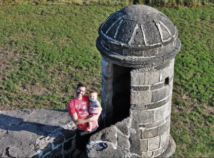 Chris Taylor and TinyMan at Fort Matanzas NP in St Augustine Florida