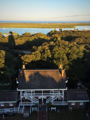 St Augustine Lighthouse shadow on Keepers House