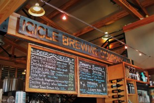 Beer Menu Boards at Icicle Brewing Company in Leavenworth WA 1