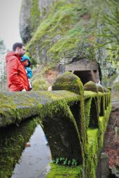 Chris Taylor and TinyMan at Oneonta Gorge Waterfall Area Oregon 1