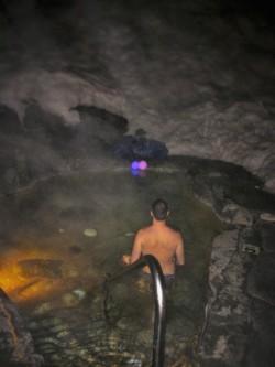 Chris Taylor in Hot Pool at Sleeping Lady Resort Leavenworth WA 1