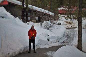 Chris Taylor in Snow at Sleeping Lady Resort Leavenworth WA 3