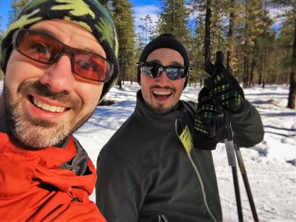 Chris and Rob Taylor Skiing the Nordic Trail System in Leavenworth WA 2