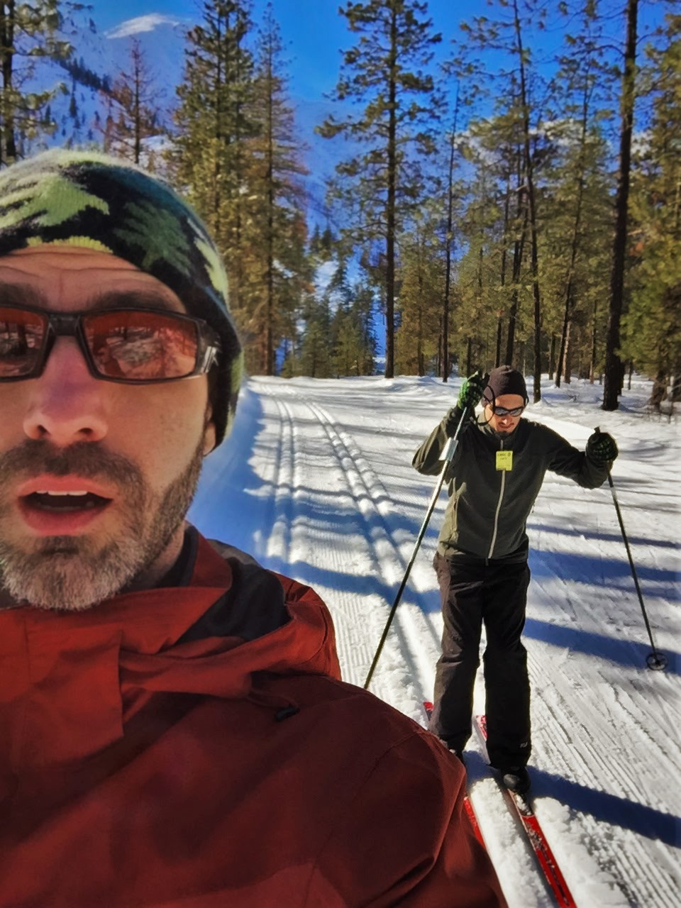 Chris and Rob Taylor Skiing the Nordic Trail System in Leavenworth WA 3