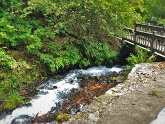 Foot Bridge at Wahkeena Falls Columbia Gorge Oregon