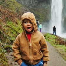 LittleMan at Latourell Falls Oregon 1