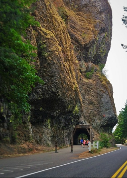 Tunnel and Cliff at Oneonta Gorge Columbia Gorge Oregon