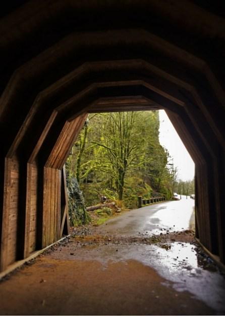 Tunnel at Oneonta Gorge Columbia Gorge Oregon