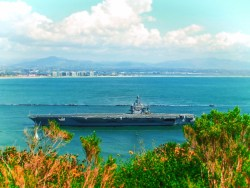 Aircraft Carrier at Point Loma San Diego 1