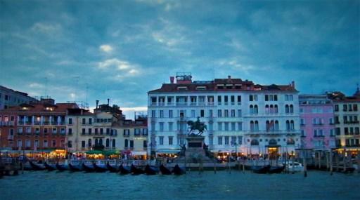 Gondola Parking Venice Sunset