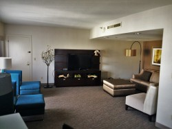 Living Space in Luxury Suite at Westin Seattle 2