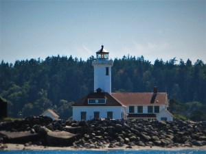 Point Wilson Lighthouse Fort Worden Port Townsend from Water 2