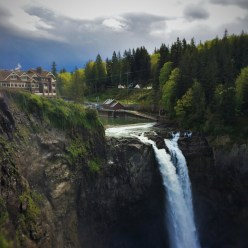 Snoqualmie Falls in Spring 2