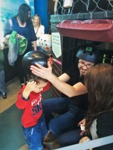 Chris Taylor and LittleMan with Helmets at Altitude at Childrens Museum of Denver 3