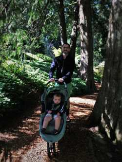 Chris Taylor and TinyMan at Bloedel Reserve Bainbridge Island 3