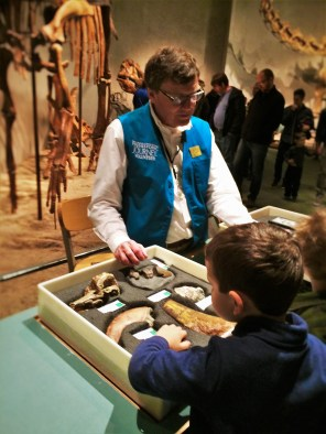 Docent and Fossils at Prehistoric Journey in Denver Museum of Science and Nature 2