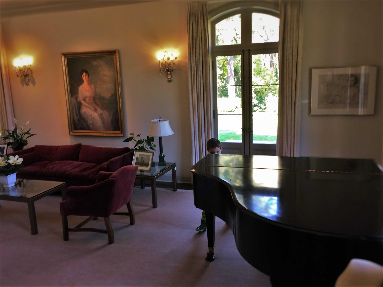 LittleMan and Piano Inside Mansion at Bloedel Reserve Bainbridge Island 2