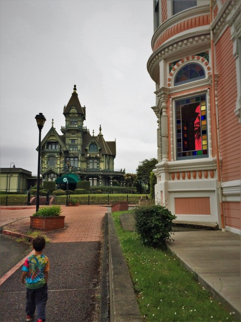LittleMan and Pink Lady and Carson Mansion near Carter House Inn Eureka 1