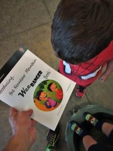 LittleMan getting Junior Ranger book at Kennesaw Mountain National Battlefield 1