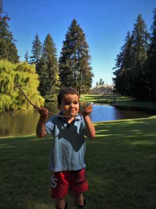 LittleMan with pond and Mansion at Bloedel Reserve Bainbridge Island 1