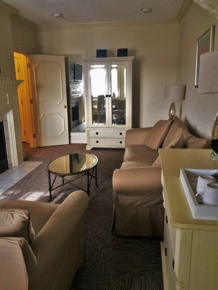 Living room in suite at Carter House Inn Eureka 1