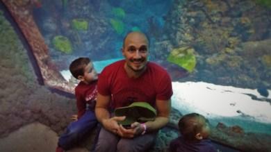 Rob Taylor and Dudes in Shark Tube at Denver Downtown Aquarium 1