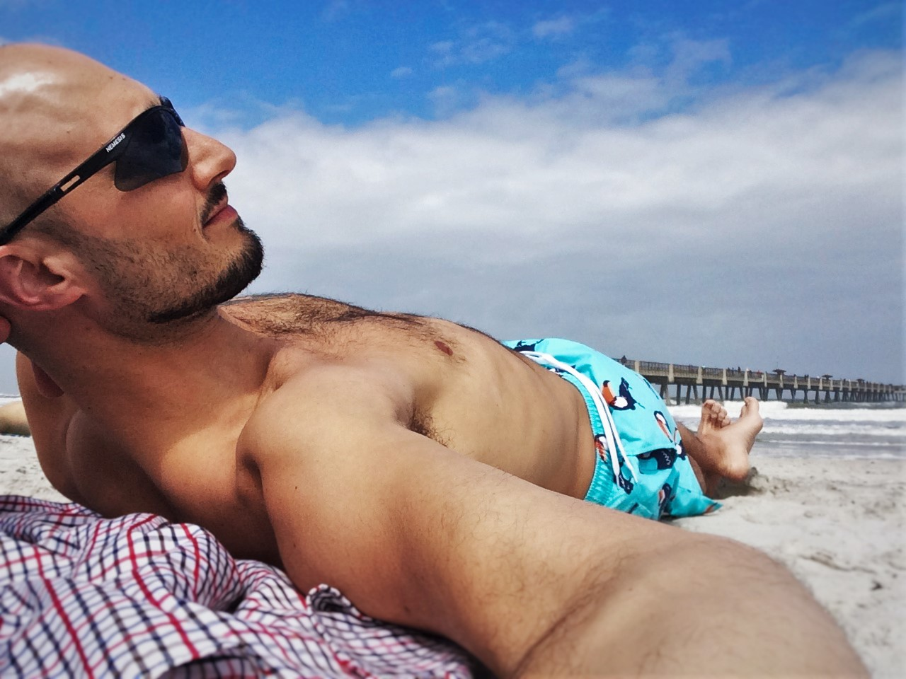Rob Taylor at Jacksonville Beach Florida Jacksonville solo travel