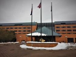 Snow at Inverness Hotel Denver Colorado 1
