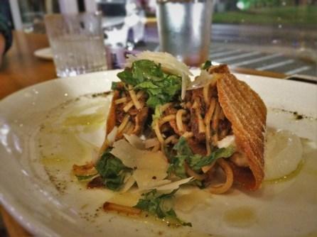 Spaghetti Tacos at Il Desco Avondale Jacksonville Florida