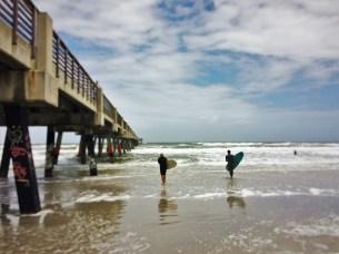Surfers at Jacksonville Beach Florida 2