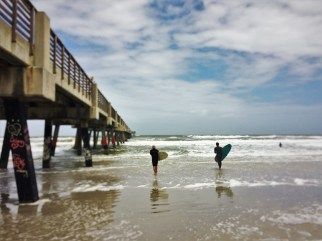 Surfers at Jacksonville Beach Florida 2