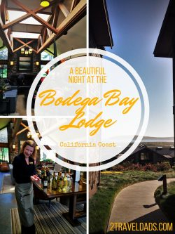 A beautiful night at the Bodega Bay Lodge is an ideal way to break up a long streak of family travel. 2traveldads.com