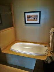 Bathroom in Deluxe Family Room at Bodega Bay Lodge 1