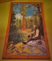 John Muir Painting in John Muir Lodge in Kings Canyon National Park 2