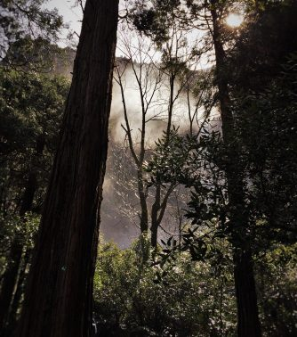 Mist from Bridal Veil Falls in Yosemite National Park 1